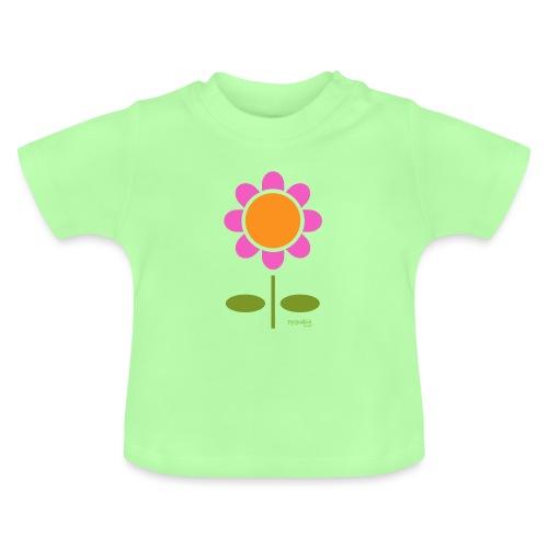 Retro flower - Vauvan t-paita