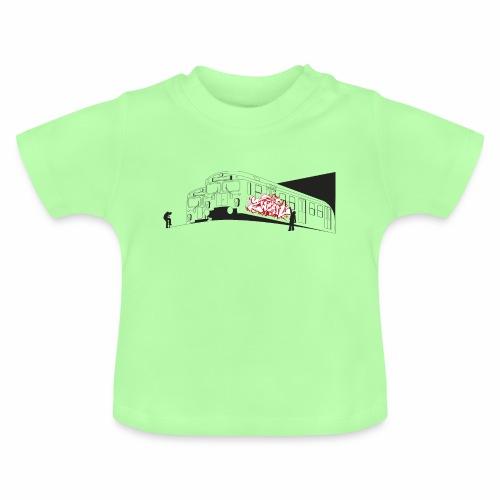 Throw up 2wear graffiti trains ver02 1 - Baby T-shirt