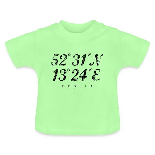Berliner Koordinaten Berlin (Vintage/Schwarz) - Baby T-Shirt