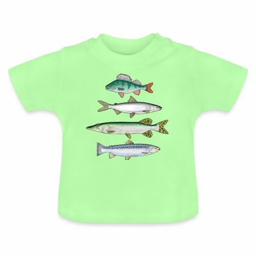 FOUR FISH - Ahven, siika, hauki ja taimen tuotteet - Vauvan t-paita