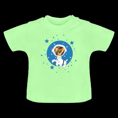 Kleiner Hund im Weltall - Baby T-Shirt