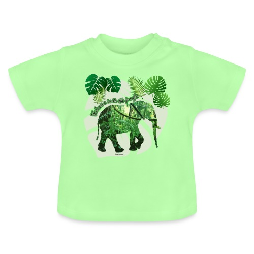 Dschungel - Elefant - Loxodonta cyclotis - Baby T-Shirt