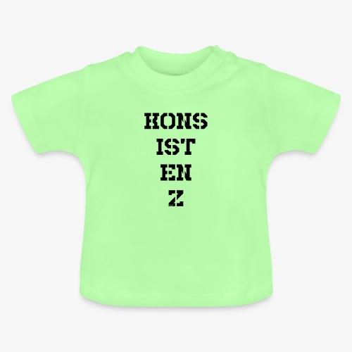 Konsistenz - schwarz - Baby T-Shirt