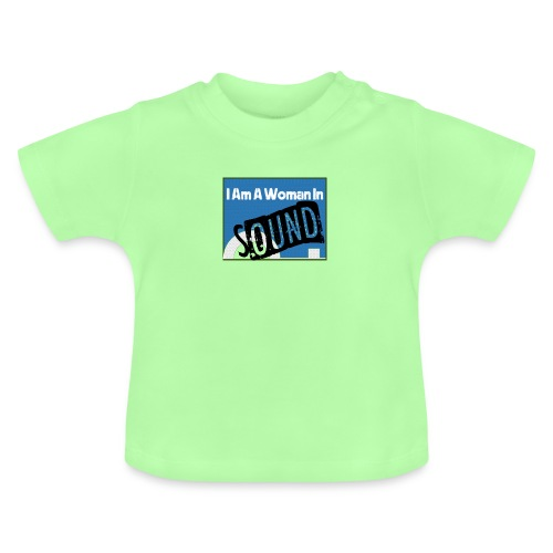 woman in sound - blue - Baby T-Shirt