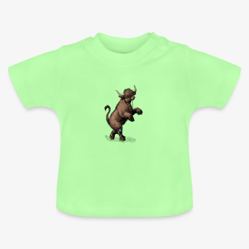 Highland Cow on roller skates - Baby T-Shirt