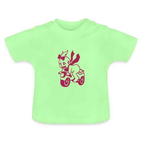 Mädchen auf Motorrad - Baby T-Shirt
