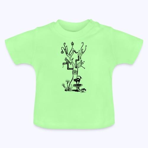 psytree black - Baby T-Shirt