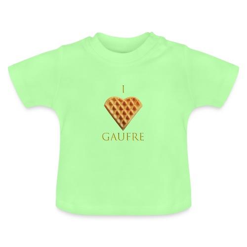 i love gaufre - T-shirt Bébé