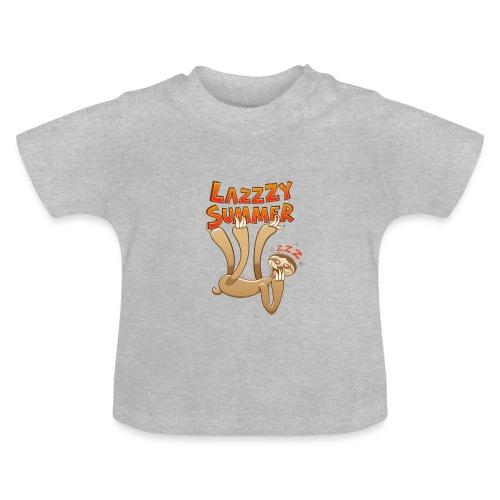 Sleepy sloth yawning and enjoying a lazy summer - Baby T-Shirt