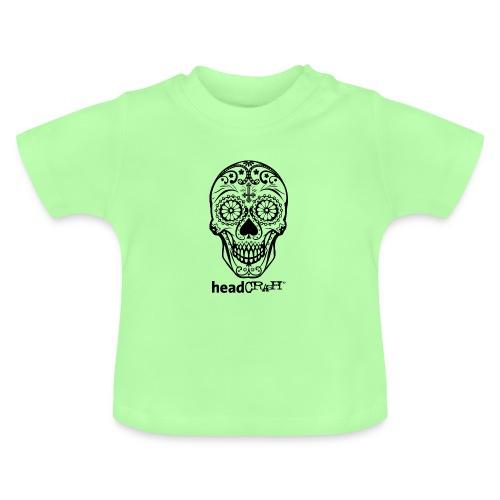 Skull & Logo black - Baby T-Shirt