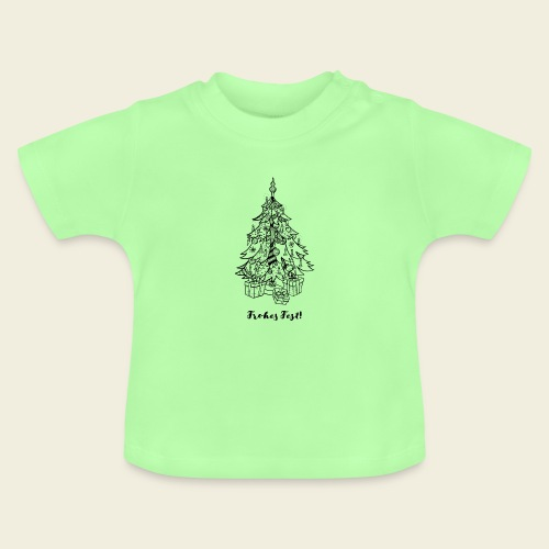 Frohes Fest! - Christbaum - Baby T-Shirt