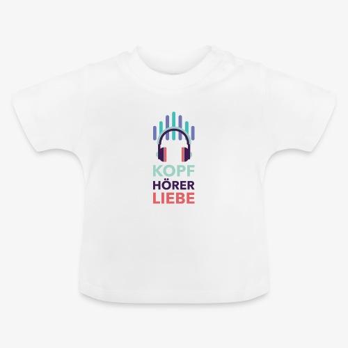 kopfhoererliebe bunt - Baby T-Shirt