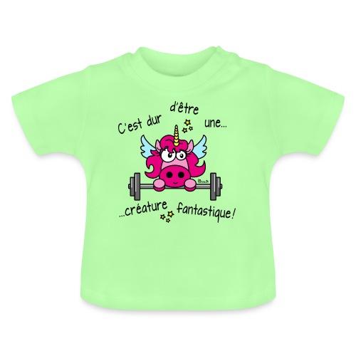 Licorne Muscu Créature Fantastique - T-shirt Bébé