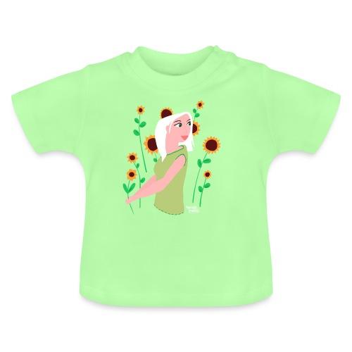 tournesols avec fille - T-shirt Bébé