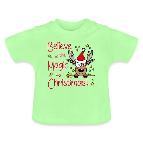Renne, Magic of Christmas, Happy Christmas, Noël - T-shirt Bébé
