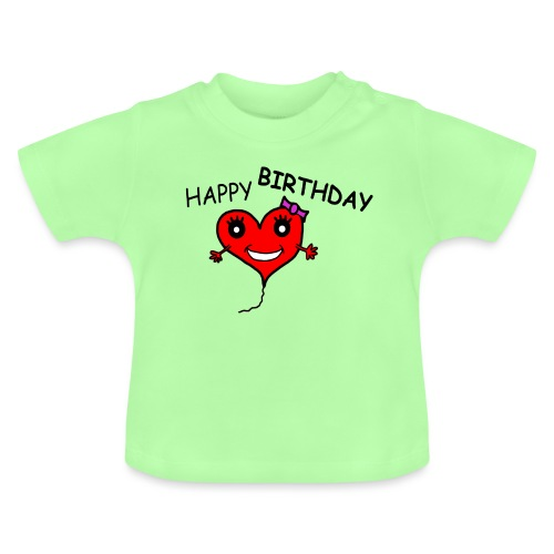 Herz Smiley Geburtstag - Baby T-Shirt