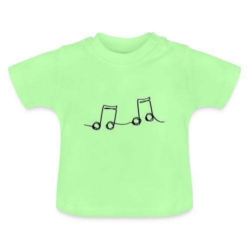 Muzikale bladmuziek muzieknoten patroon. Muziek - Baby T-shirt
