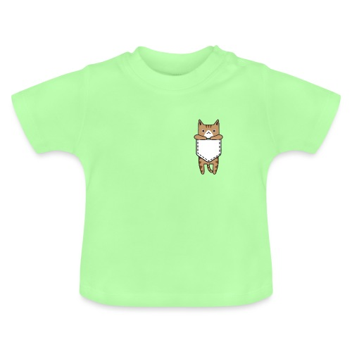 cat, kitty, cat in his pocket, love cat, cats - Baby T-Shirt