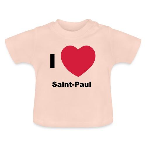 i love sainte paul - T-shirt Bébé