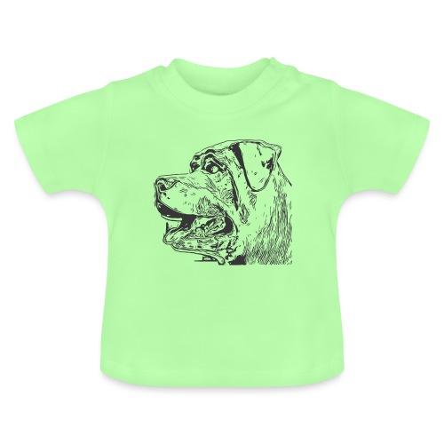 Rottweiler Mund offen schwarz - Baby T-Shirt