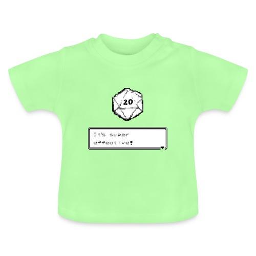 Kriittinen osuma d20 Super Effective! - D & D Dnd - Vauvan t-paita