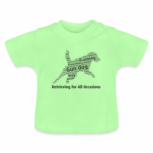 Retrieving for All Occasions wordcloud svart - Baby-T-shirt