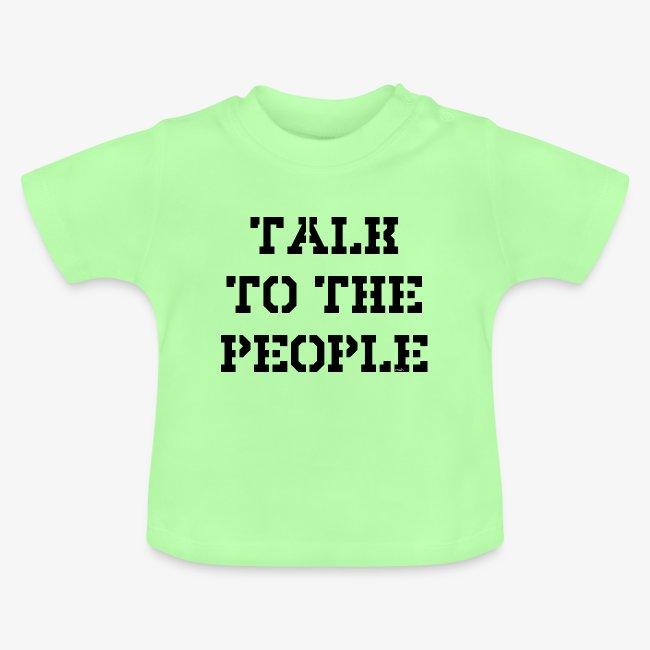 Talk to the people - schwarz
