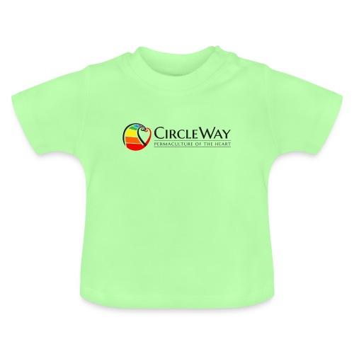 Circleway Permaculture of the heart Logo - schwarz - Baby T-Shirt