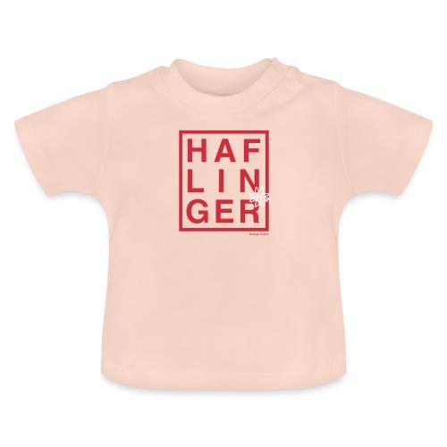 Haflinger Schriftzug / Pferd - Baby T-Shirt