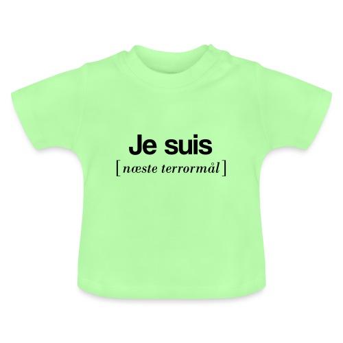 Je suis (sort skrift) - Baby T-shirt