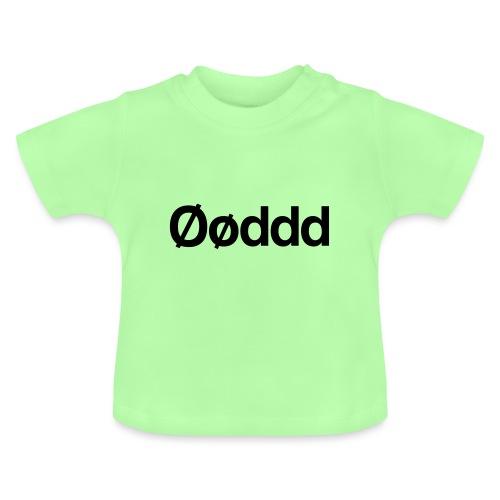 Øøddd (sort skrift) - Baby T-shirt