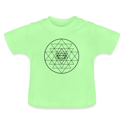 Sri Yantra - black and white - Baby T-shirt