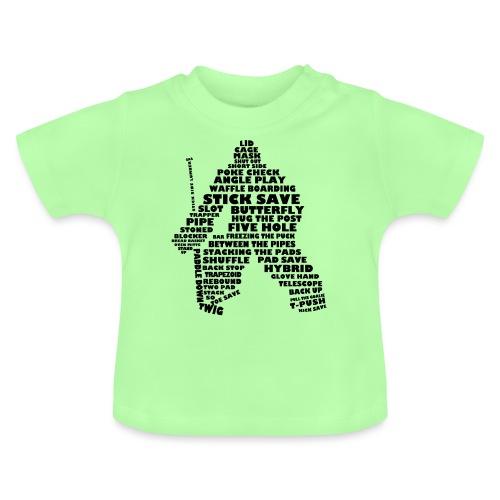 Hockey Goalie Word Art Typography - Baby T-Shirt