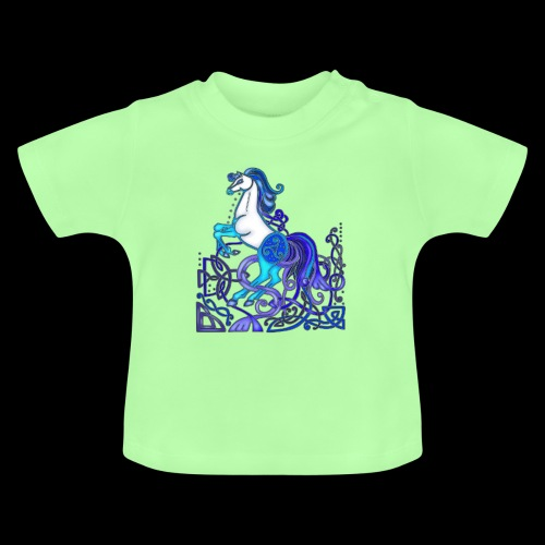 Celtic Horse Silver Blue - Baby T-Shirt