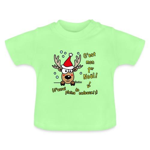 Renne - C'est mon Premier Noël - Cadeaux Drôles - T-shirt Bébé