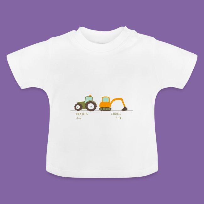 wholesale dealer 68738 f7793 Kinder Kleidung Traktor Bagger Rechts-Links lernen   Baby T-Shirt