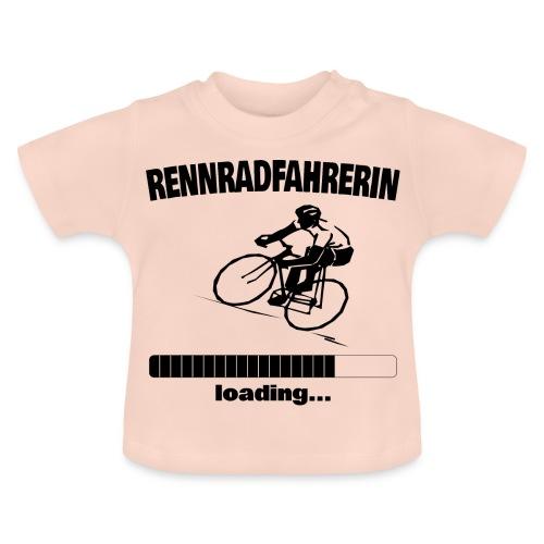 Rennradfahrerin loading... Baby Motiv - Baby T-Shirt