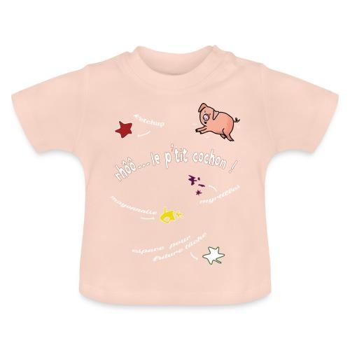 Rhoo le ptit cochon ! (version pour fond sombre) - T-shirt Bébé