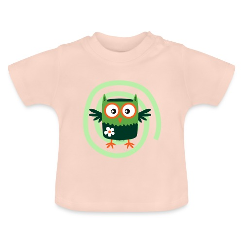 FP10-56 FLOWER OWL - TEXTILE AND GIFT PRODUCTS - Vauvan t-paita