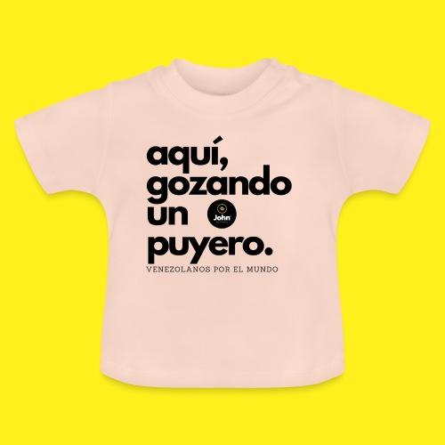 aqui gozando un puyero - Camiseta bebé