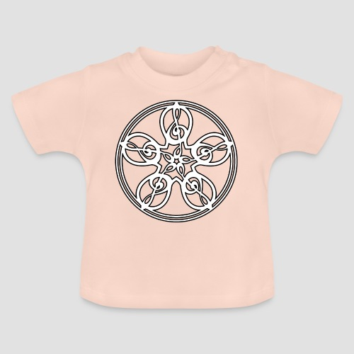 Treble Clef Mandala (white/black outline) - Baby T-Shirt