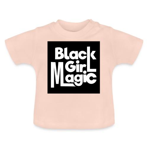 Black Girl Magic 2 White Text - Baby T-Shirt