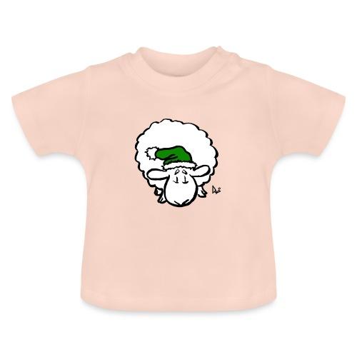 Weihnachtsschaf (grün) - Baby T-Shirt