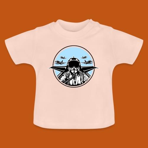 Jet Pilot / Kampfpilot 01_weiß Schwarz - Baby T-Shirt