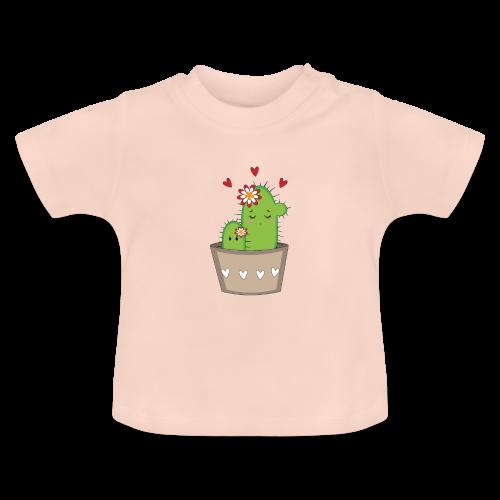 Kaktus Mama mit Kaktus Baby - Baby T-Shirt