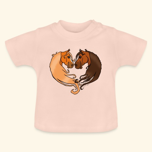 Chevaux amoureux alezan-bai - T-shirt Bébé