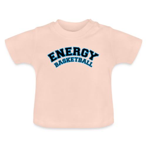 baby energy basketball logo nero - Maglietta per neonato