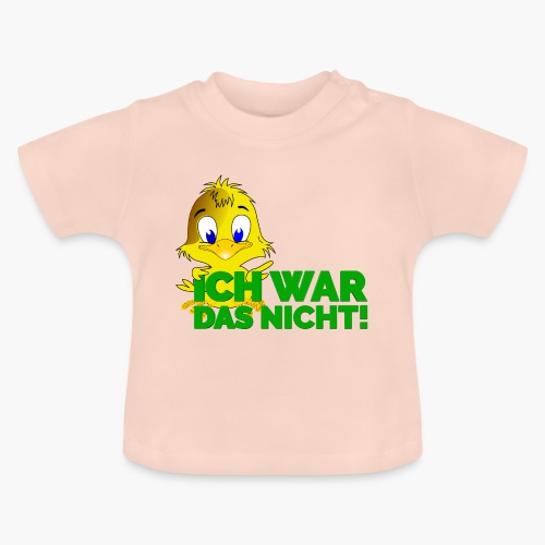 Ich war das nicht Schriftzug 3D Schrift - Baby T-Shirt