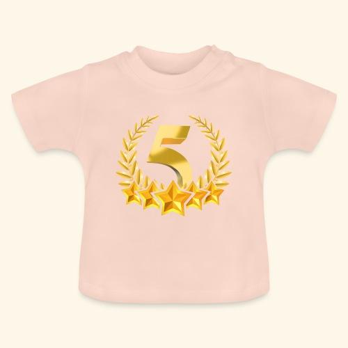 Fünf-Stern 5 sterne - Baby T-Shirt