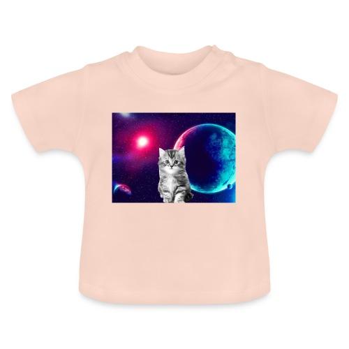 Cute cat in space - Vauvan t-paita